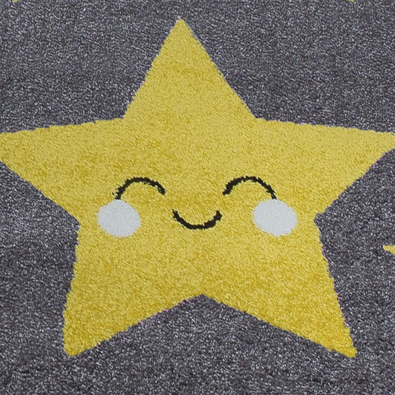 Gris SIMPEX Tapis pour Enfant en Forme d/étoiles Mignons pour Chambre denfant Jaune Chambre de b/éb/é Jaune 120 x 170 cm rectangulaire