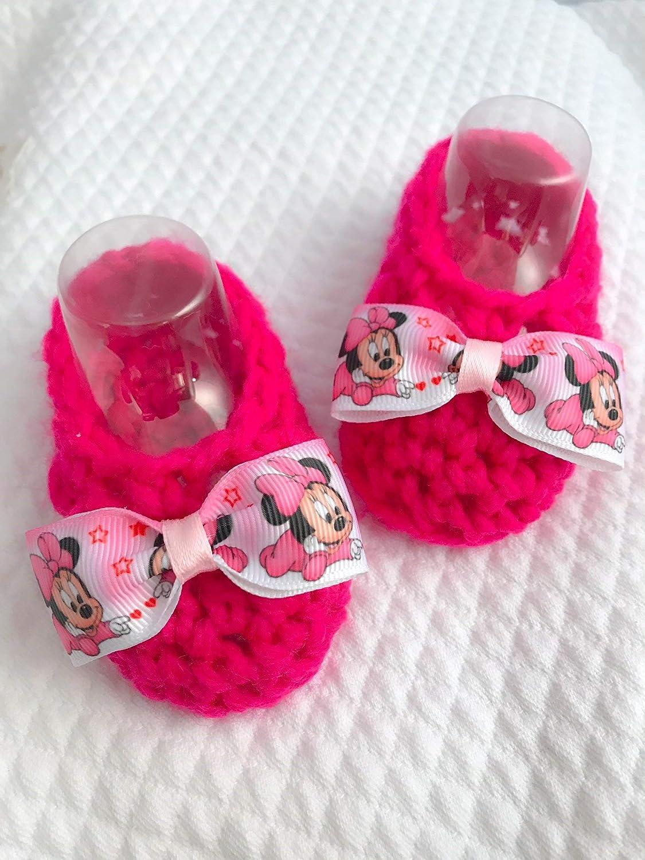 Scarpine bebe | stivaletti neonato | minnie disney | idea regalo morbida lana | topolina | il nodocreativo