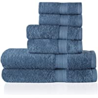 Trends Alley Eclat – Luxury, 100% Combed Cotton Towel Set (6 Pieces, 4 Colours), 500 GSM, Includes 2 Face Towels, 2 Hand…