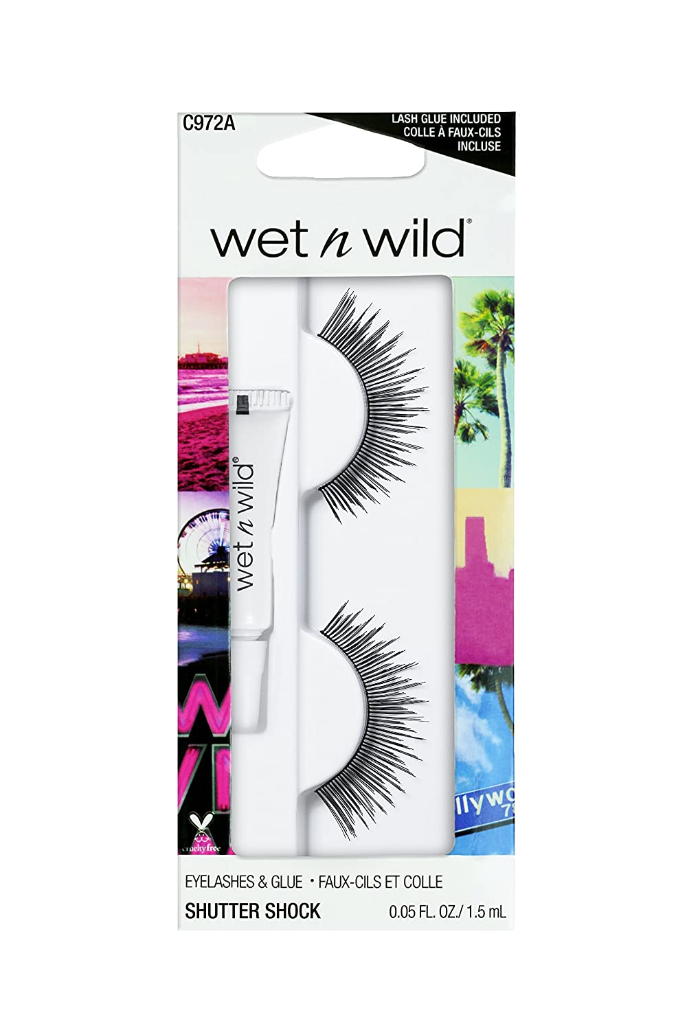 ebd760dbdce Amazon.com : wet n wild False Lashes, Shutter Shock, 1 Fluid Ounce : Beauty