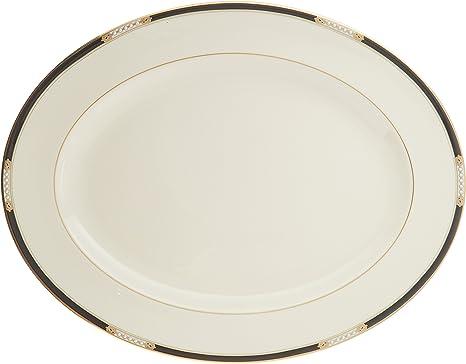 Amazon Com Lenox Hancock 16 Oval Serving Platter Ivory Soup Bowls