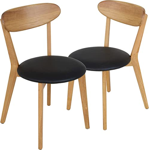 mecor Oak Dining Chairs Set of 2