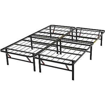 Amazon.com: AmazonBasics Platform Bed Frame, Black, California King ...