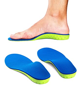 610a415bf5 Image Unavailable. Image not available for. Color: High Arch Support  Plantar Fasciitis Insoles Orthotic Inserts for Flat Feet ...