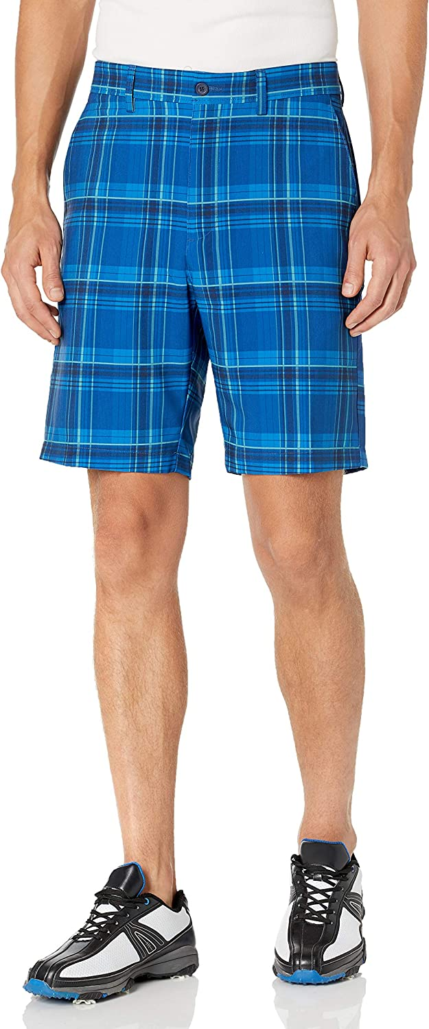 Jack Nicklaus Men's Standard Flat Front with Plaid security Short Golf Ac Detroit Mall