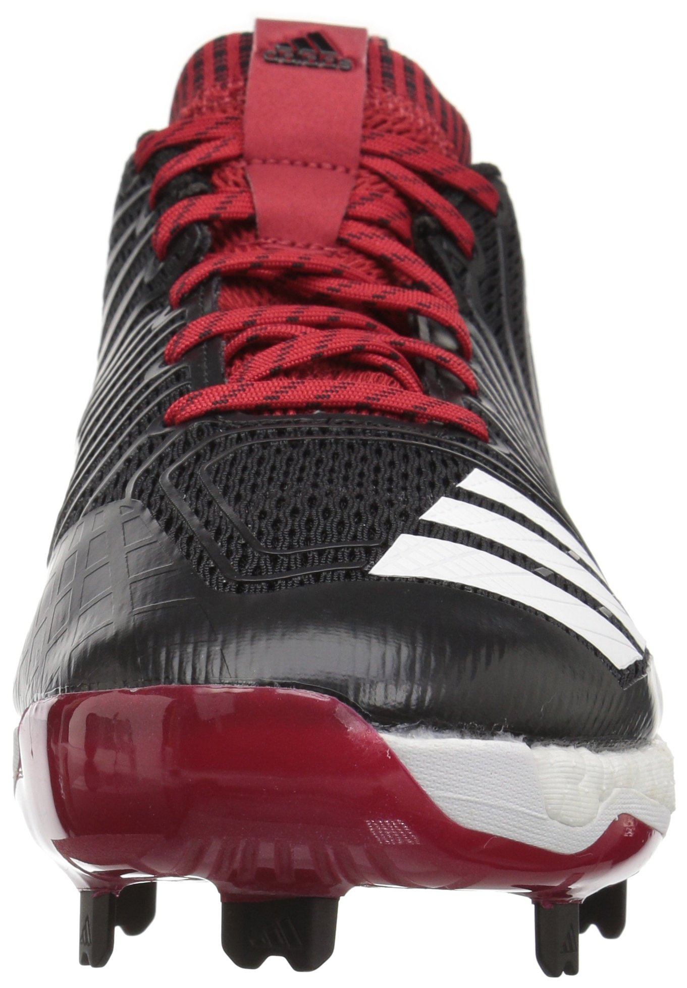 adidas Men's Freak X Carbon Mid Baseball Shoe, Black/White/Power RED, 7.5 Medium US by adidas (Image #4)