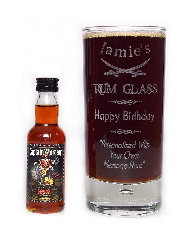 Personalised /'Captain/' Jamaica White Rum label new style Birthday Gift