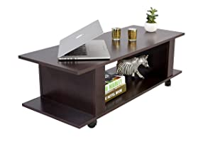 DeckUp Bonton Coffee Table/Centre Table (Dark Wenge, Matte)