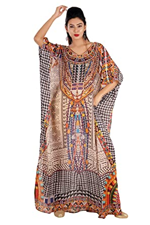 Silk kaftan Online one Piece Dress Jeweled/Hand Made/Formal/Caftan Dress 254