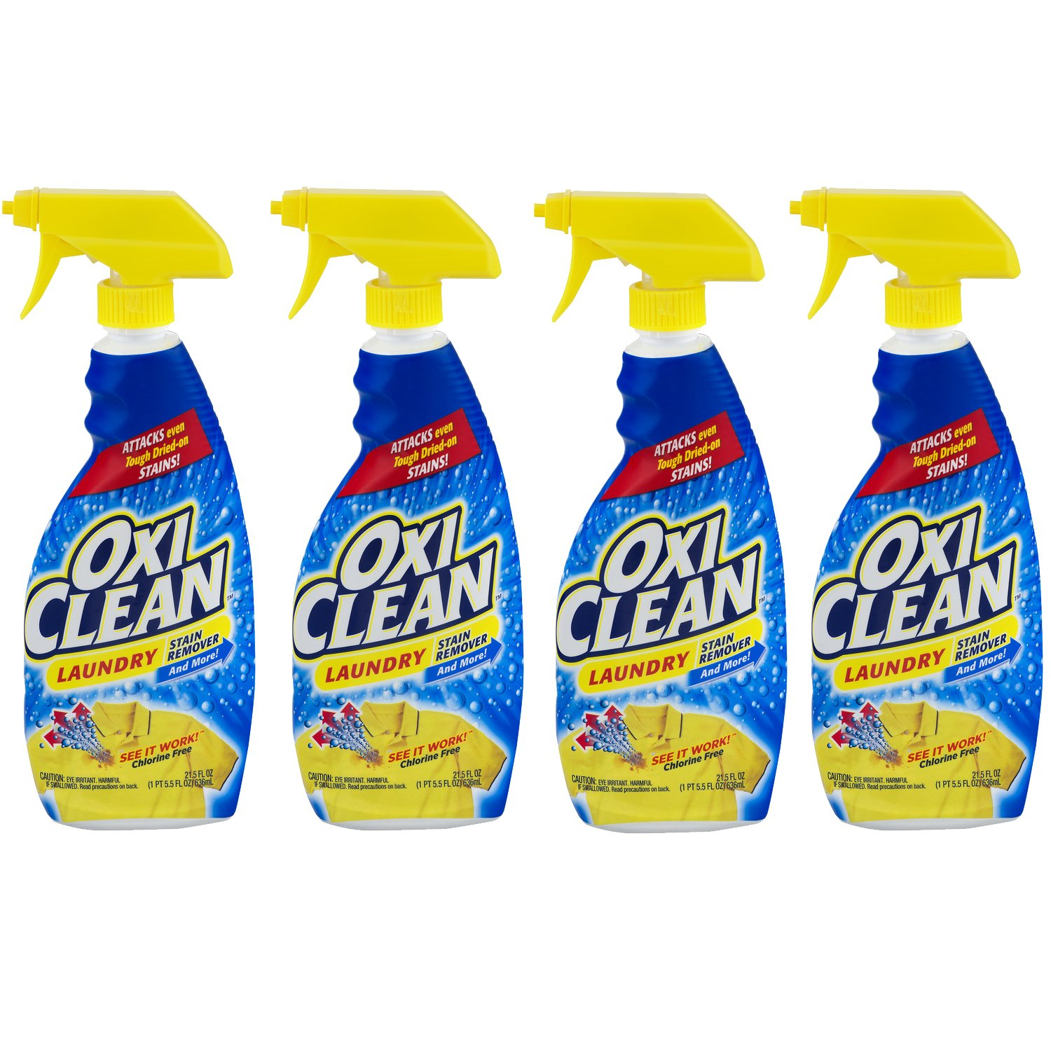 OxiClean Liquid Stain Remover, 21.5 oz, Pack of 4