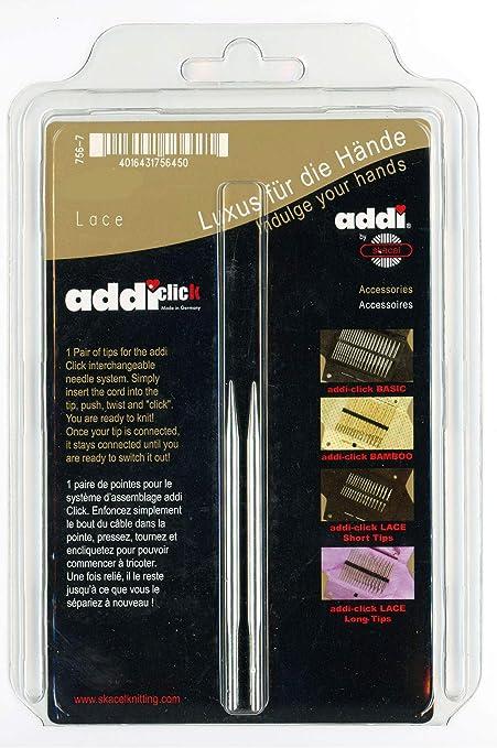addi Click Lace Long Tips Interchangeable Circular Knitting Needle Set