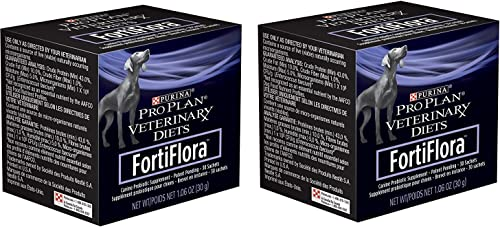 Purina Fortiflora Dog Nutritional Supplement 2 Pack 30 Sachets Each
