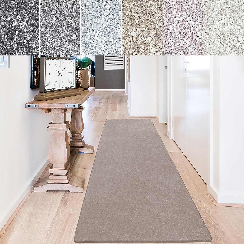 Casa pura Teppich Läufer Sundae   Meterware   Teppichläufer für Wohnzimmer, Flur, Küche usw.   kuschlig weich   mit Stufenmatten kombinierbar (Beige - 80x400 cm)