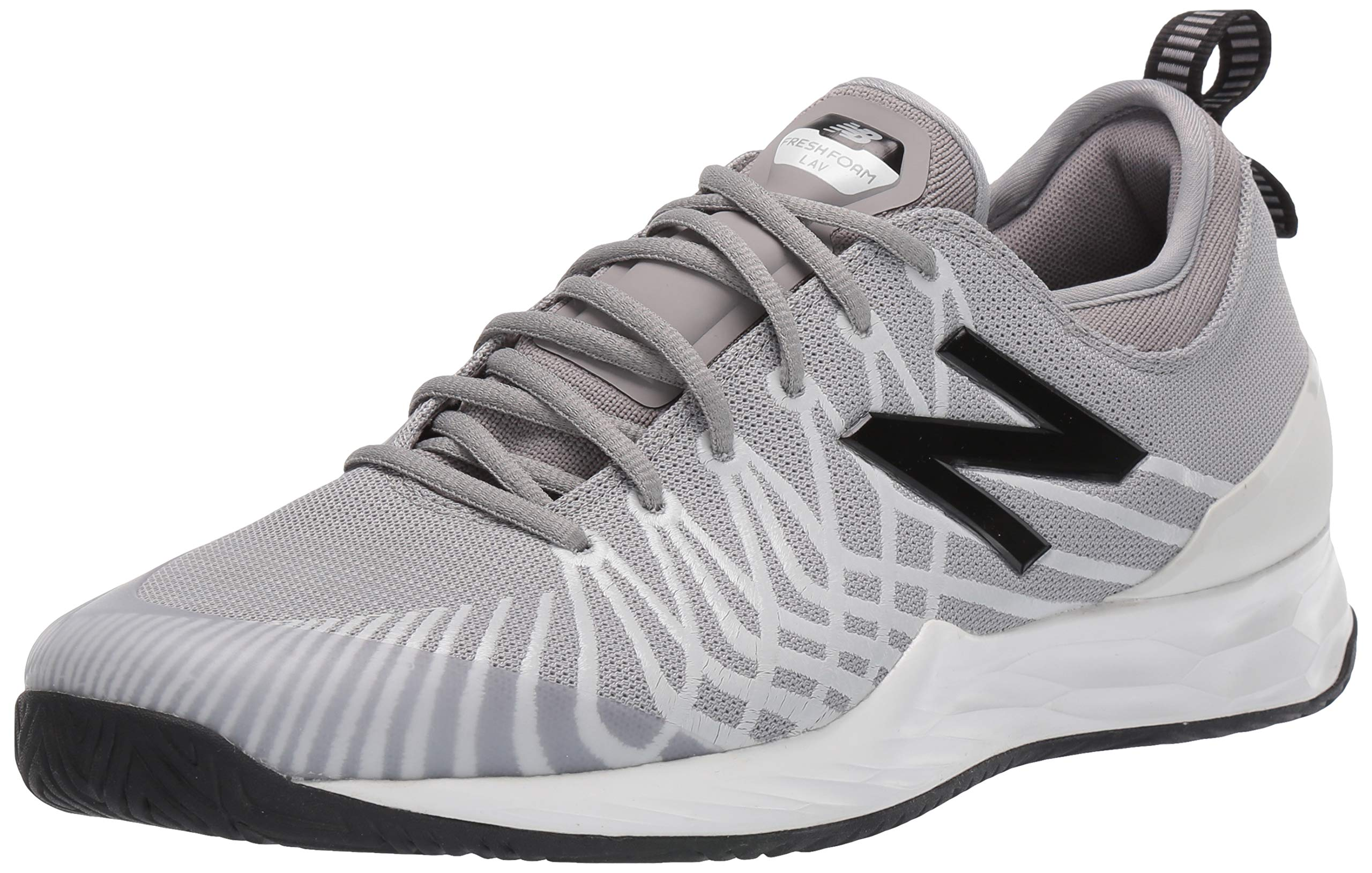 New Balance Men's LAV V1 Hard Court Tennis Shoe, Marblehead/Black, 12 D US by New Balance