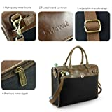 Lavievert Cotton Canvas and Crazy-Horse PU Leather
