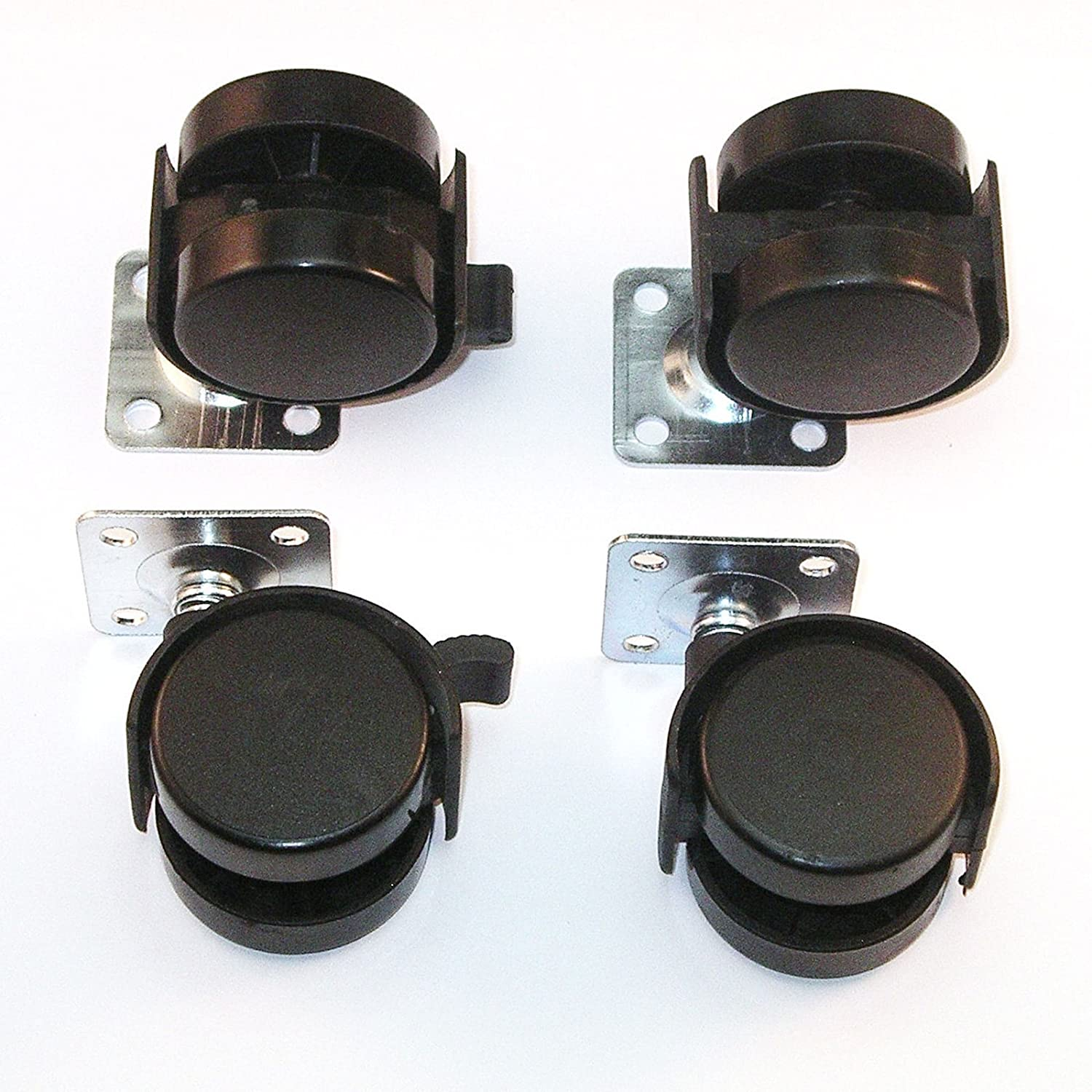 1 Set (4 pieces) SO-TECH® Swivel Castor for Furniture Diameter 40 mm (2 lockable) SOTECH 40020/21