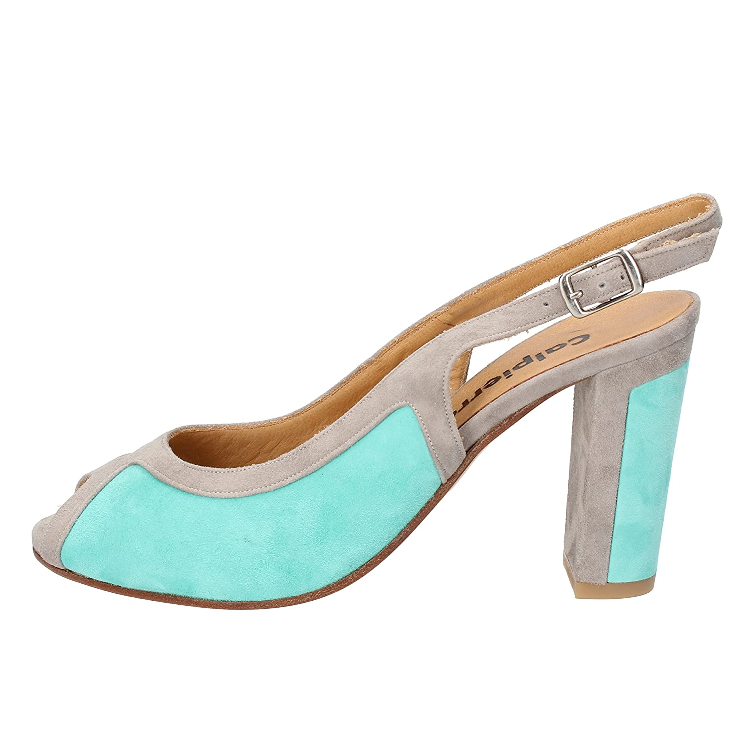 - CALPIERRE Sandals Womens Suede Turquoise