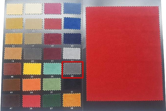Kadusi Tela Antelina con Tratamiento Repelente al Agua tapizar.Ancho 160 cm Color Terracota Anaranjado
