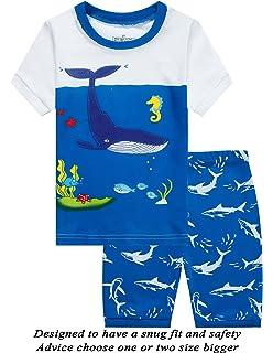 2426eb5c38 Little Girls Short Pajamas OWL Snug Fit Cotton Toddler Pjs Summer Clothes  Shirts
