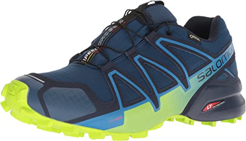 salomon waterproof trail running shoes womens navy