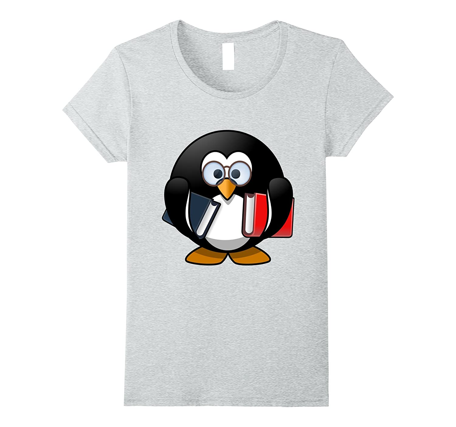 Bookworm Penguin Cartoon T Shirt funny-Teechatpro