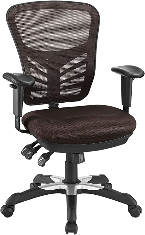 Amazon Com Modway Articulate Ergonomic Mesh Office Chair In Brown Furniture Decor