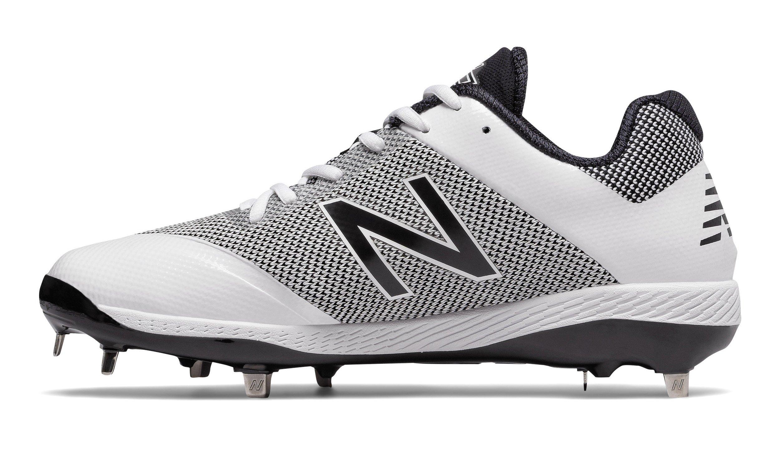 New Balance Men's L4040v4 Metal Baseball Shoe, Silver/Camo, 8 D US by New Balance (Image #2)