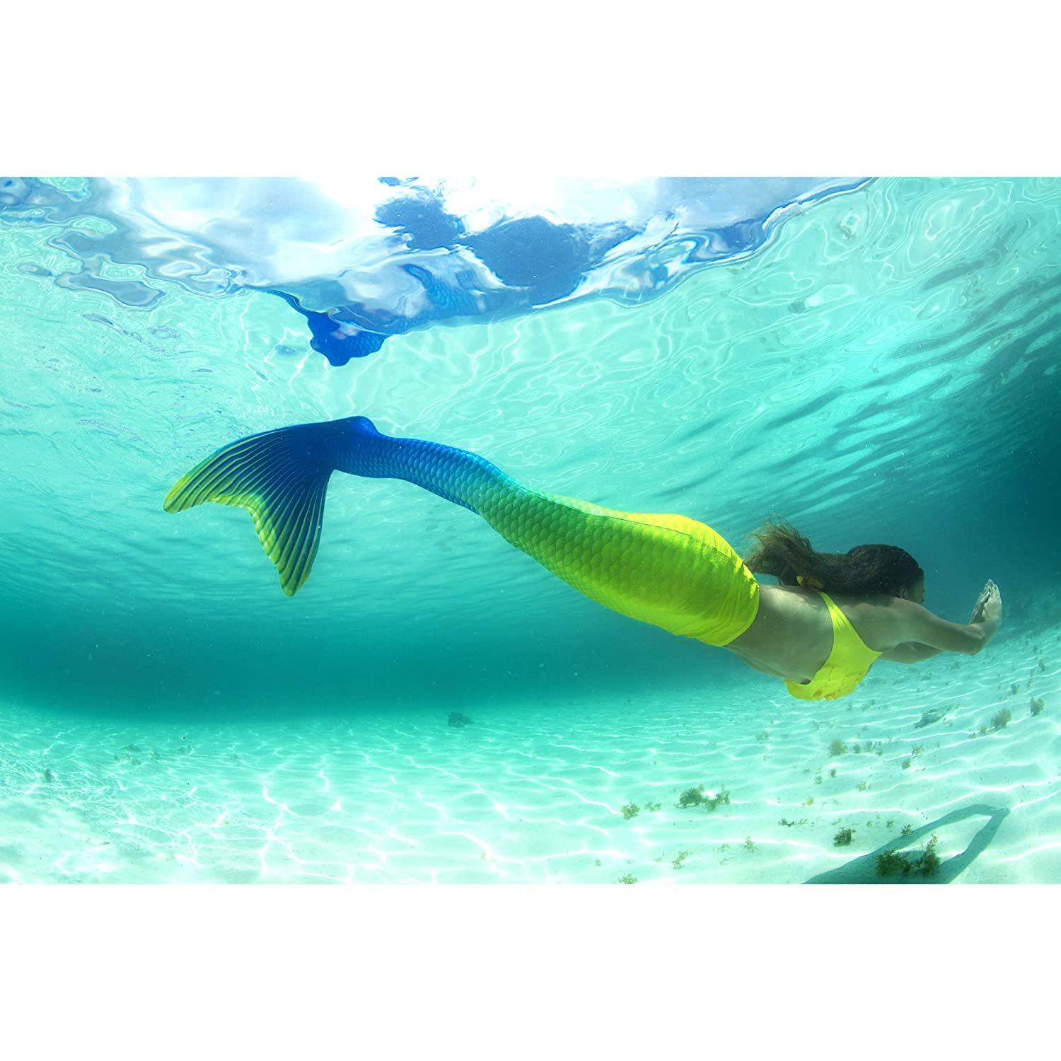 Reinforced Tips Child 12 Bali Breeze Fin Fun Mermaid Tail Only NO Monofin