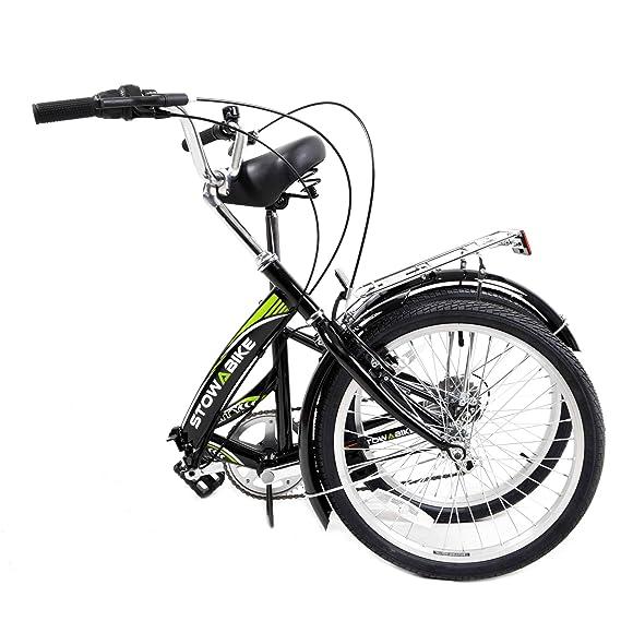 Stowabike 20 Folding City V2 Compact Foldable Bike Blackgreen