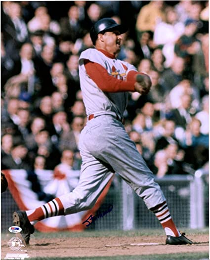 new styles 881b1 19812 Stan Musial St. Louis Cardinals Autographed Vintage 16