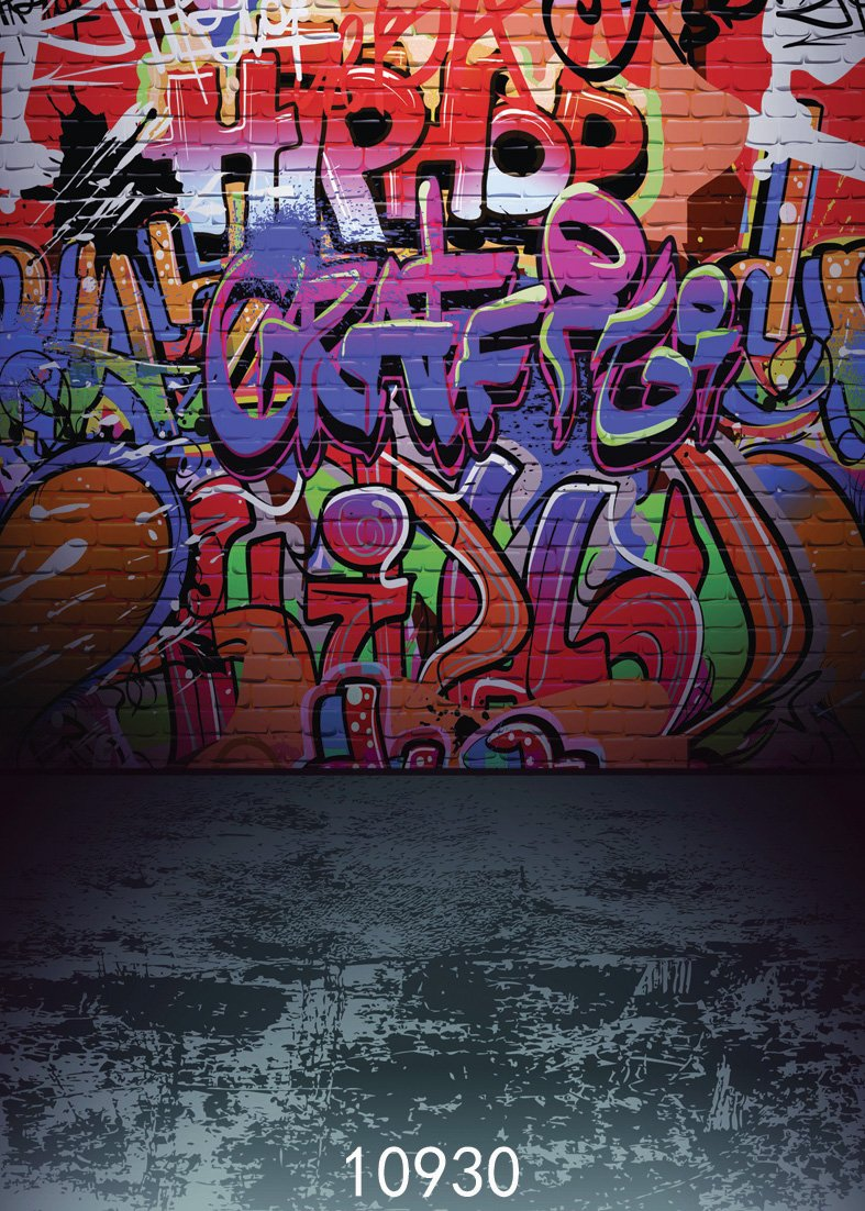 SJOLOON 5x7ft Graffiti Style Vinyl Photography Backdrop Customized Photo Background Studio Prop 10930 by SJOLOON (Image #2)