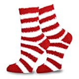 TeeHee Christmas Holiday Cozy Fuzzy Crew Socks