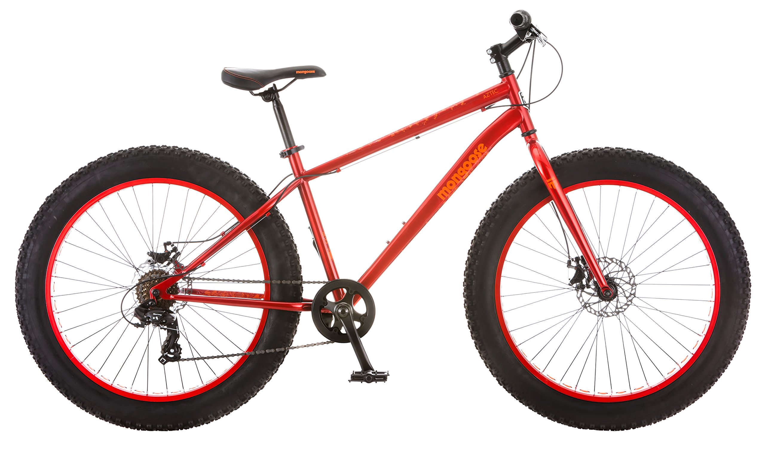 Bicicleta con llanta de grasa azteca mangosta, roja