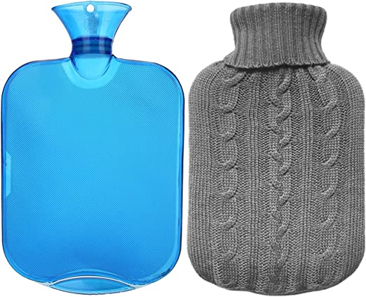 高级经典橡胶冷热两用水瓶+针织套