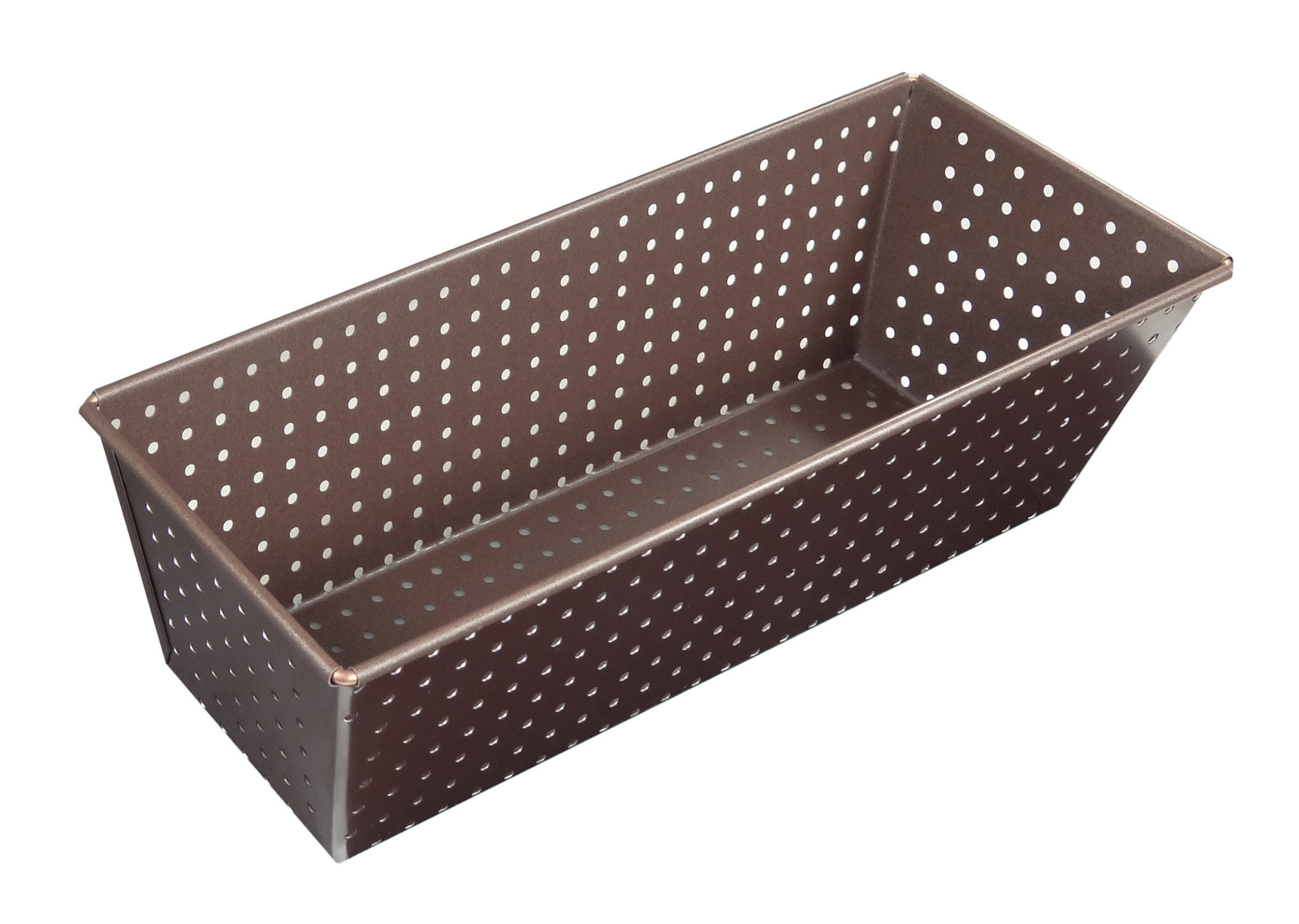 Paderno World Cuisine A4982313 Non-Stick Perforated Loaf Pan, Brown