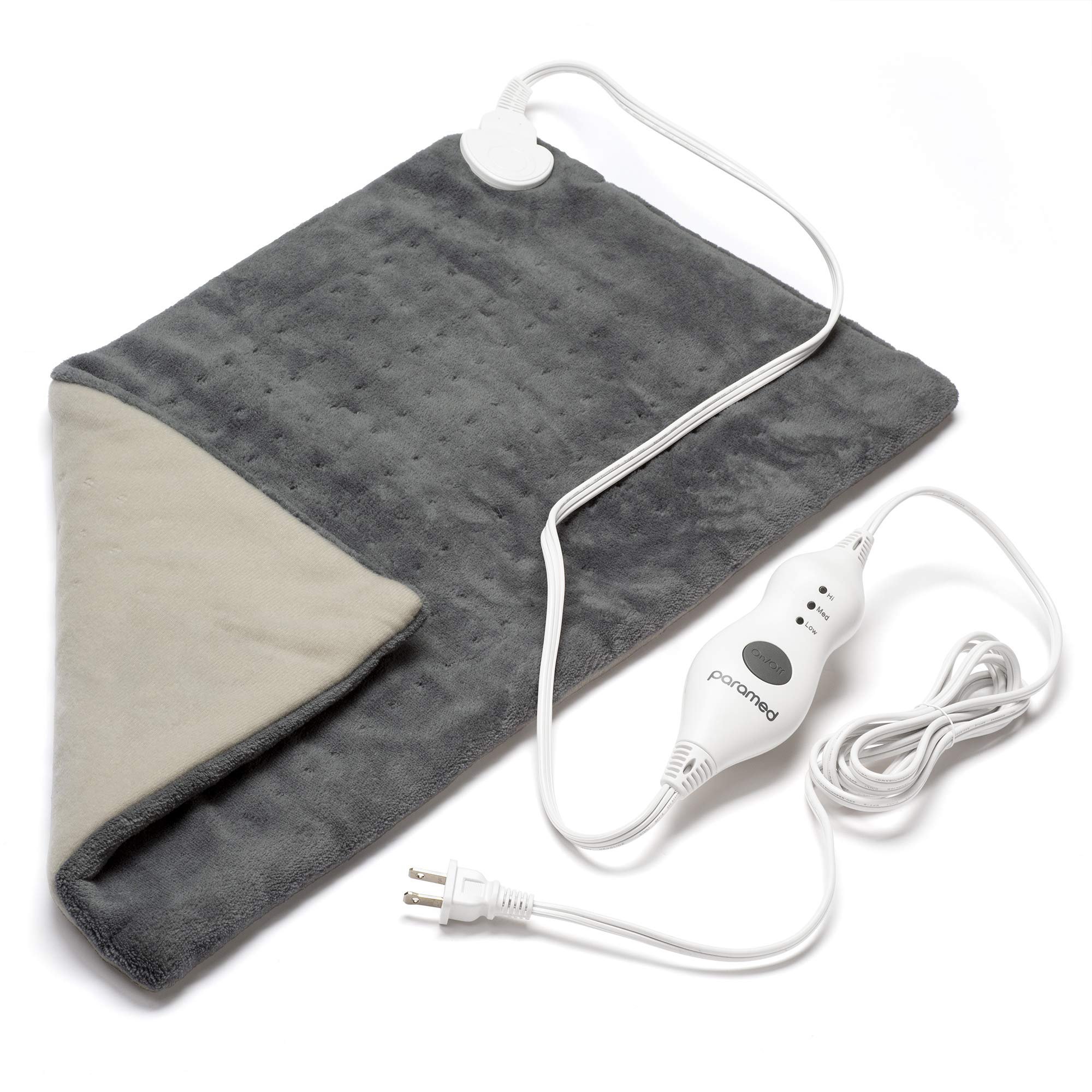 """PARAMED Heating Pad XL King Size by Paramed - Extra Large 12"""" x 24"""" - Dry Heat Therapy Functions & Auto Shut-Off - for Neck, Back, Shoulder, Menstrual Pain & Sore Muscle Relief – Washable"""