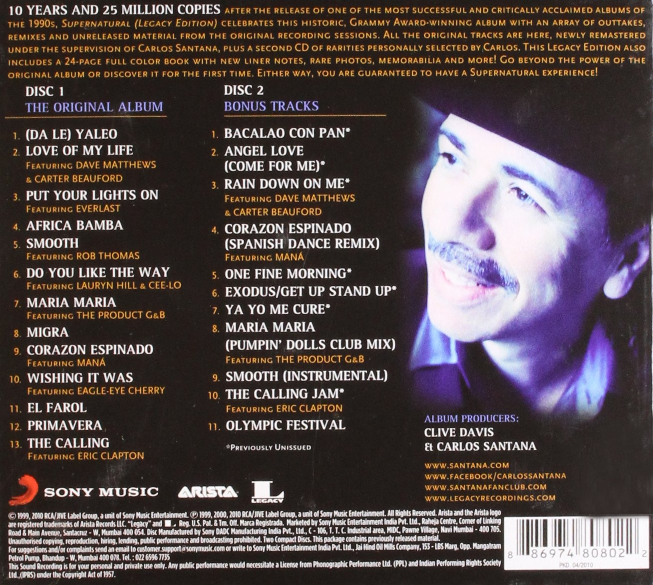 santana supernatural legacy edition amazon com music