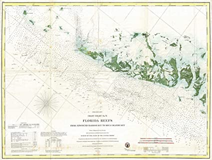 Map Of Florida Keys And Key West.Amazon Com Historical 1859 U S Coast Survey Map Or Nautical Chart