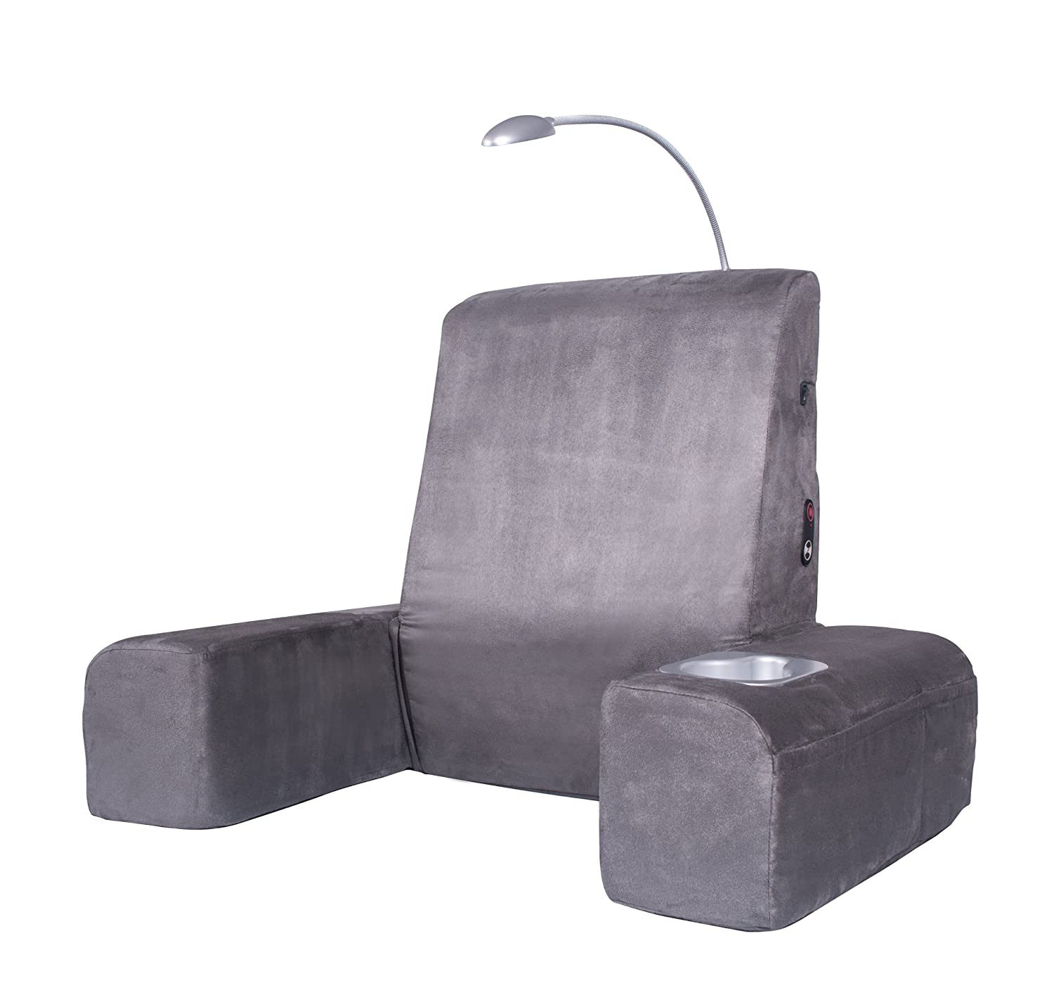 Carepeutic Bed Lounger with Heated Comfort Massager, Gray