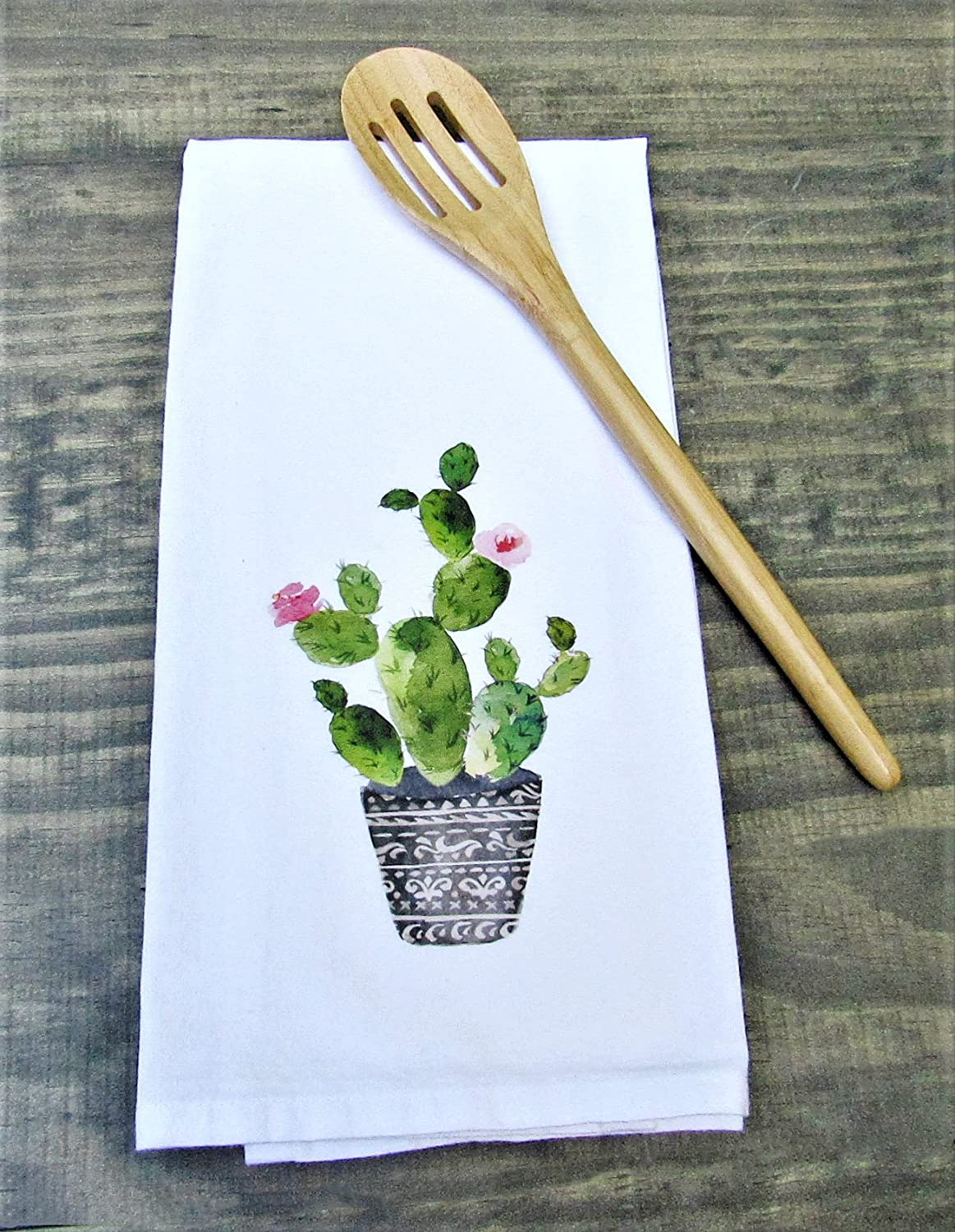 Cactus Print Towel, Farmhouse Tea Towels, Flour Sack Towels