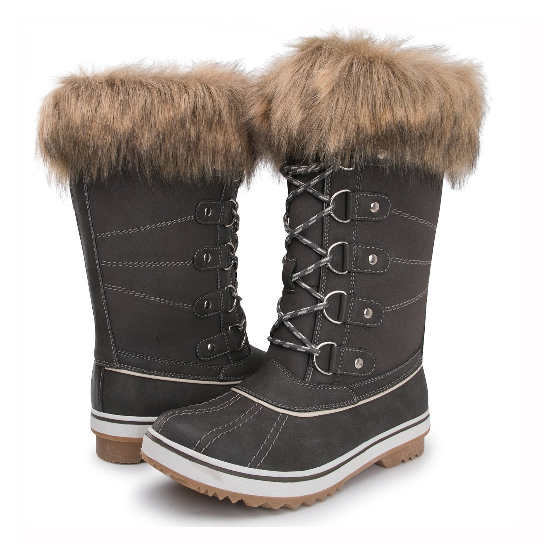 Kingshow Women's Globalwin Waterproof Winter Boots B072112H4V 7.5(M) US Women's|1712grey
