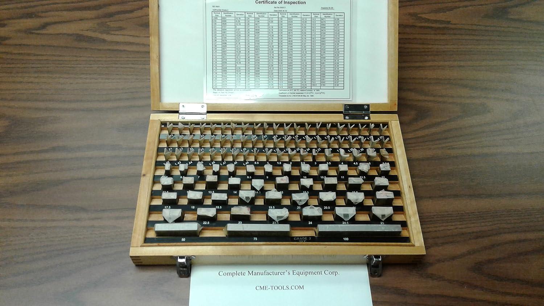 CERTS 103 PCS//SET METRIC GAGE BLOCK SET DIN861 GRADE 2 W #702F-103--new