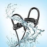 SPARIN Bluetooth Sport-Kopfhörer/bluetooth kopfhörer joggen, IPX7 wasserdichte Kopfhörer mit Noise Cancelling Funktion und [Bluetooth 4.1]+ [8 Std. Akkulaufzeit]+ [HD Sound]