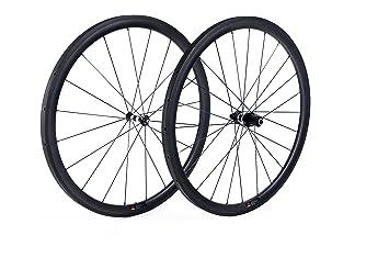YouCan bicicleta juego de ruedas para bicicleta de carretera 700 C de carbono 38 mm Tubular DT Swiss Hub Sapim radios, 20.5mm: Amazon.es: Deportes y aire ...