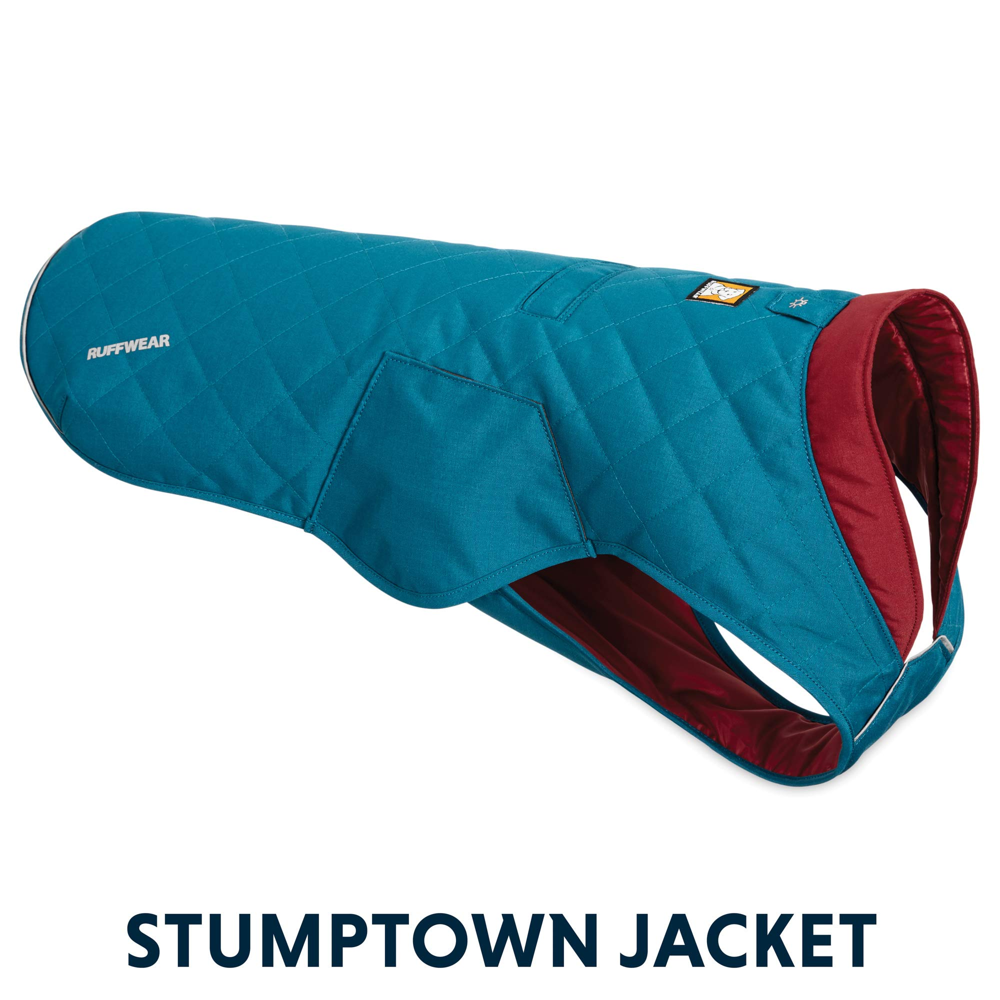 RUFFWEAR - Stumptown Insulated, Reflective Cold Weather Jacket for Dogs, Metolius Blue, X-Small