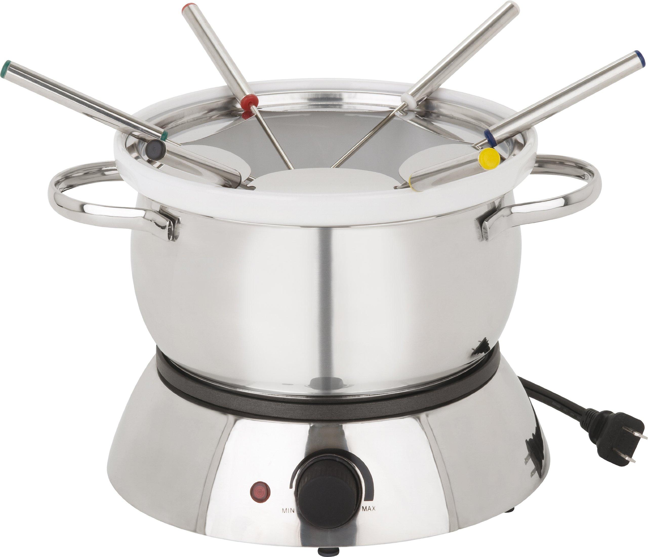 Trudeau alto 3 in 1 electric fondue set, 11-piece set