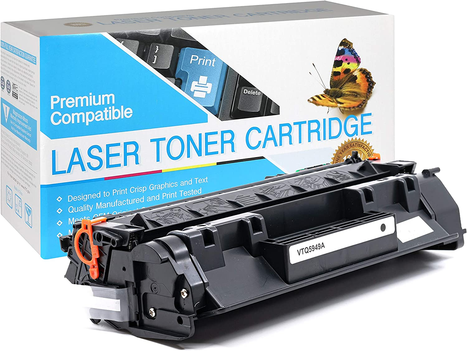 Black,1 Pack Q7553X SuppliesOutlet Compatible Toner Cartridge for HP 53X