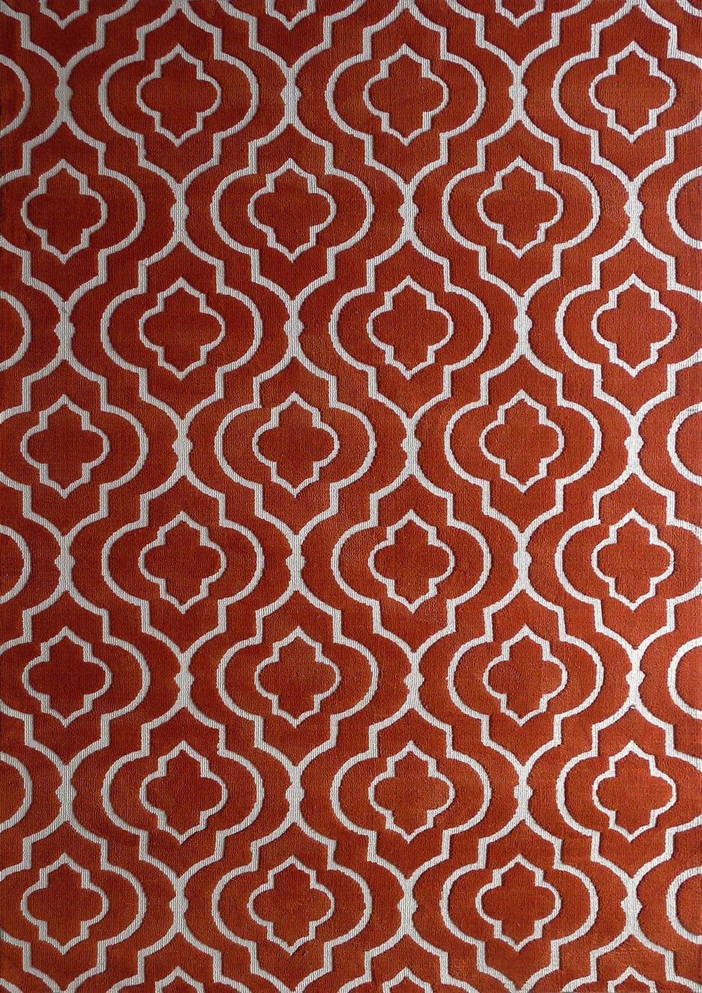 Amazon.com: OFERTA TIEMPO LIMITADO Alfombra color Naranja hecha a mano estilo unica moderno lujosa, 60