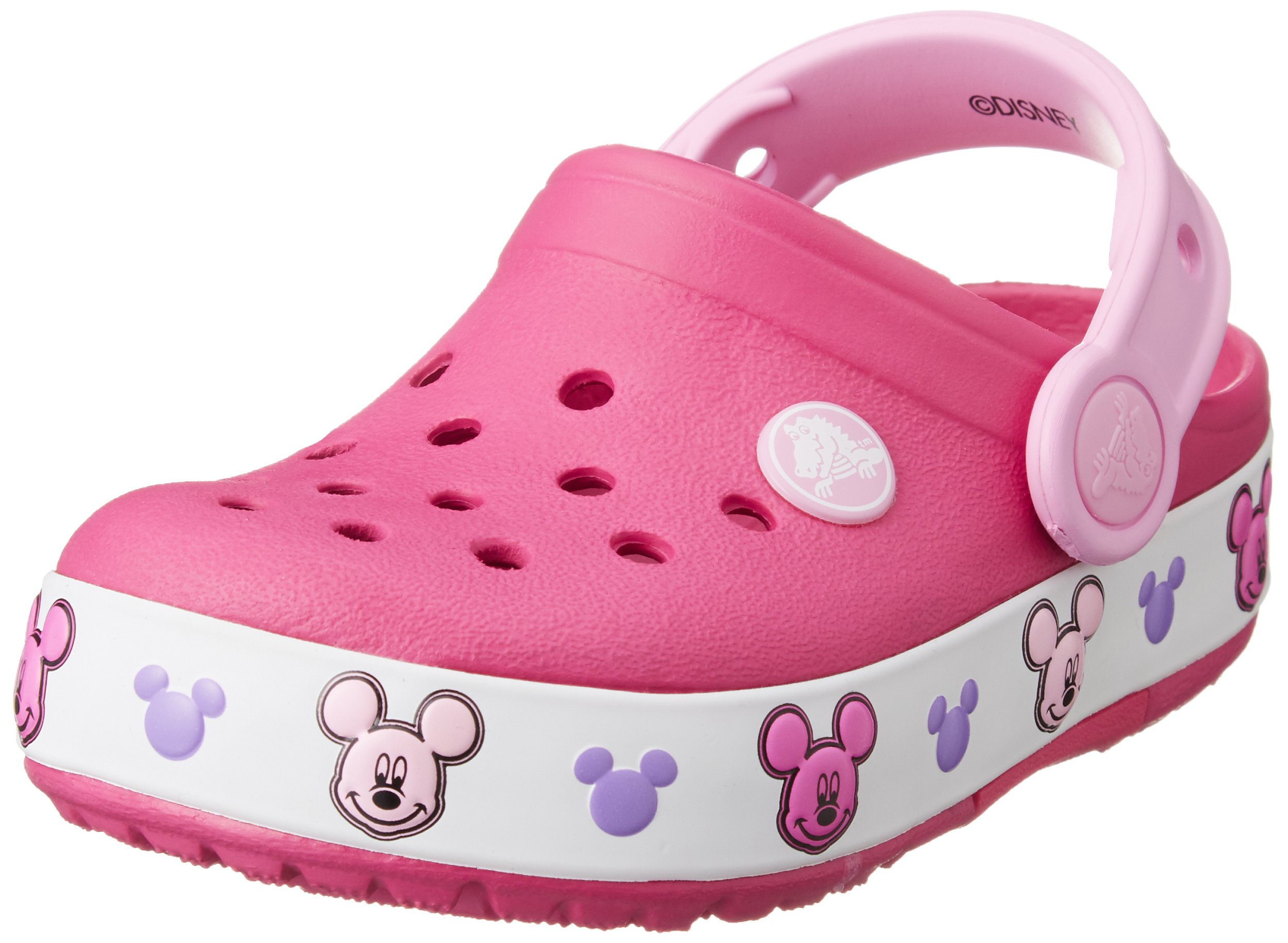 Crocs Kids' Light-Up Mickey Mouse Clog, Candy Pink, 2 M US Little Kid