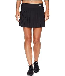 Nike Victory Falda de Tenis, Mujer, (NegroBlanco), L
